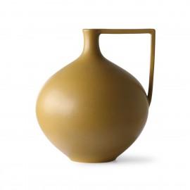 Vase boule grès poignée design HK Living jaune