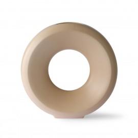 hk living vase cercle design gres beige