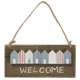 petit panneau deco murale bois bienvenue ib laursen welcome