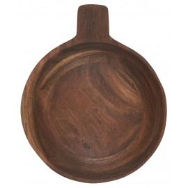 bol rustique bois acacia avec poignee ib laursen 20 cm