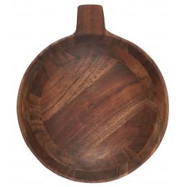 bol bois acacia rustique style campagne ib laursen 24 cm