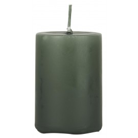 bougie cylindre vert fonce ib laursen 6 cm