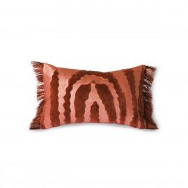 Coussin chic motif tigre franges HK Living rouge