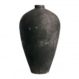 muubs luna tres grande jarre noire taille xxl extra large terre cuite 130 cm