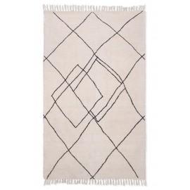 hk living tapis tufte design blanc style berbère 150 x 240 cm
