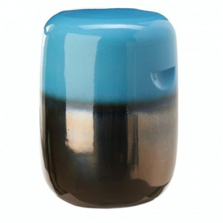 pols potten tabouret en ceramique pilule degrade bleu 240-030-001