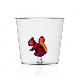 verre avec figurine ecureuil ichendorf milano animal farm