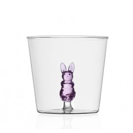 ichendorf milano verre figurine lapin rose animal farm