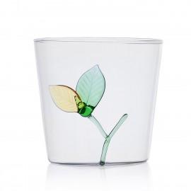 verre avec sculpture en relier ichendorf milano greenwood feuille