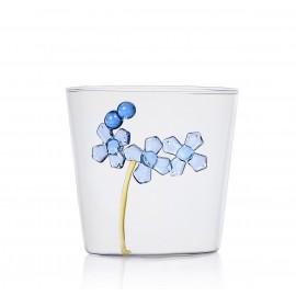 ichendorf milano verre avec fleur bleue sculpture relief exterieur