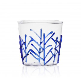 ichendorf milano verre italien decor relief bleu branches