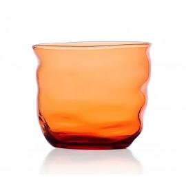 ichendorf milano poseidon verre gobelet design souffle deforme orange