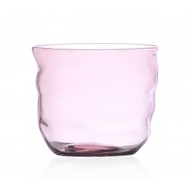 ichendorf milano poseidon gobelet design verre souffle rose