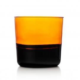 ichendorf milano light verre italien souffle design bicolore ambre noir