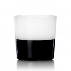 verre italien design bicolore ichendorf milano light blanc noir