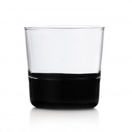 ichendorf light verre gobelet souffle italien bicolore noir