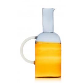 carafe design verre souffle bicolore ichendorf tequila ambre gris