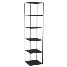 house doctor rack d etagere colonne 5 cases metal noir industriel