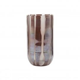 house doctor vase style chic verre bicolore brun bai
