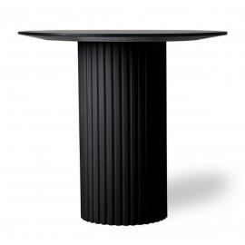 Table d'appoint design ronde bois HK Living Pillar noir