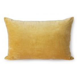 hk living coussin rectangulaire velours uni jaune dore