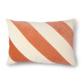hk living coussin de salon chic velours rayures orange peche