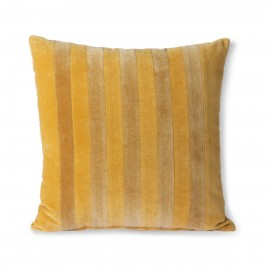 hk living coussin carre chic velours raye jaune