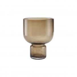 house doctor vase verre style elegant chic marron brun