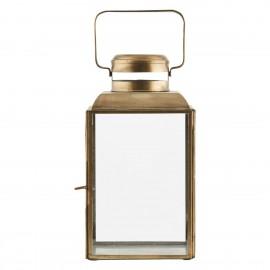 house doctor lanterne vintage metal dore laiton