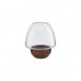 Porte-bougie style chic verre métal House Doctor Gravity