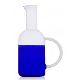 carafe design verre souffle bicolore bleu ichendorf milano tequila