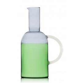 ichendorf tequila carafe verre souffle bicolore vert gris