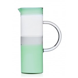 ichendorf milano carafe verre souffle cylindre bicolore vert gris tequila