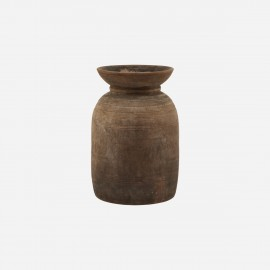 house doctor vase bois recycle style rustique camapgne