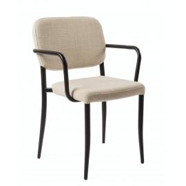 Chaise de salon accoudoirs métal Pols Potten Jamie beige