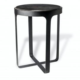 Bout de canapé style classique marbre Pols Potten Stoner noir