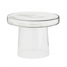madam stoltz table basse ronde d appoint verre transparent