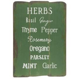 ib laursen panneau mural deco cuisine bois vintage herbes aromatiques