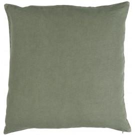 ib laursen taie d oreiller lin vert carre 50 x 50 cm
