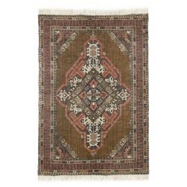 hk living tapis persan oriental coton delave vintage jute imprime