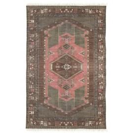 hk living tapis d orient coton imprime delave vintage rose 120 180 cm
