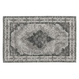 nordal petit tapis descente de lit vintage classique delave gris