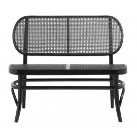 Banquette cannage rotin classique Nordal Wicky noir