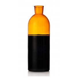 ichendorf milano carafe bouteille design bicolore noir ambre light