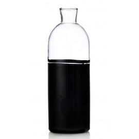 carafe bouteille design verre bicolore noir ichendorf milano light