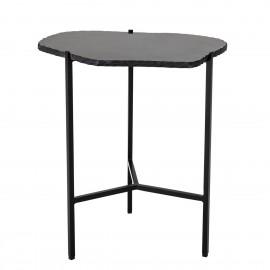 bloomingville table gueridon bout de nanape marbre brut noir svea
