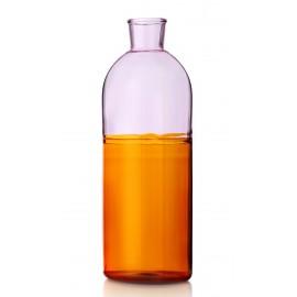 carafe design bouteille verre bicolore ambre ichendorf milano light