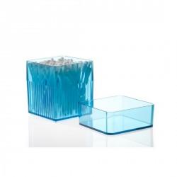 BOITE A COTON TIGE BLEUE DESIGN KALI BOX