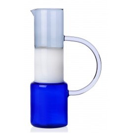 Carafe verre multicolore Ichendorf Milano Caipirinha bleu gris blanc