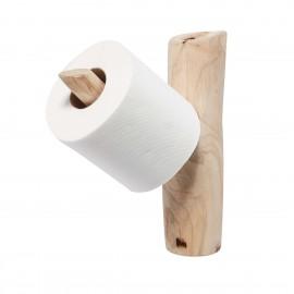muubs porte rouleau papier wc branche de bois naturel